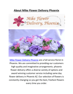 Mike Flower Delivery Phoenix  Flower Delivery In Phoenix Az