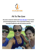 Fit To The Core : Personal Trainer in Malvern, PA