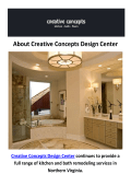 Creative Concepts Design Center | Bathroom Remodeling in Fairfax, VA