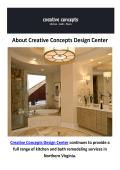 Creative Concepts Design Center | Bathroom Remodeling in Fairfax, VA