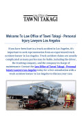 Truck Accident Attorneys by Law Office of Tawni Takagi