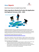Dairy Ingredients Market By Product By Application And Segment Forecast, 2013 - 2024
