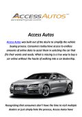 Access Autos : Car Broker in Los Angeles, CA