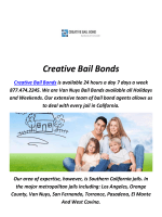 Creative Bail Bonds In Arcadia, CA