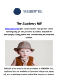 The Blueberry Hill : Baby Hats For Photography