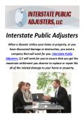 Interstate Public Adjusters in Pennsylvania