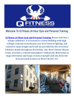 West Chester Gym : Q Fitness 24 Hour