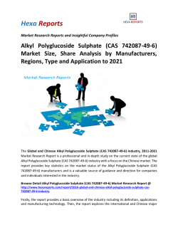 Alkyl Polyglucoside Sulphate (CAS 742087-49-6) Market Size