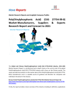 Poly(Vinylphosphonic Acid) (CAS 27754-99-0) Market-Manufacturers, Suppliers & Exports Research Report and Forecast to 2021