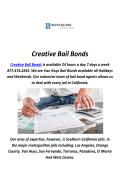 Creative Bail Bonds Service in Beverly Hills, CA