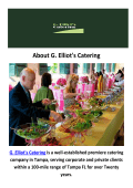 Event Catering in Tampa by G. Elliot's