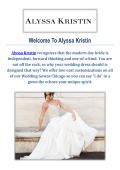 Wedding Gowns in Chicago : Alyssa Kristin