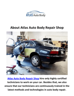 Atlas Auto Body Repair Shop in Van Nuys, CA