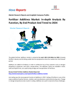 Fertilizer Additives Market In-depth Analysis By Function, By End Product And Trend to 2024
