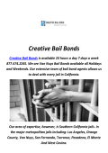 Creative Bail Bonds Service in Redondo Beach, CA