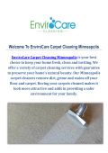 Carpet Cleaning Service in Minneapolis : EnviroCare