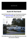 Best RV Resorts in Austin, TX