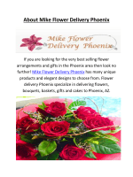 Mike Flower Delivery In Phoenix AZ Call @ 623-377-9585