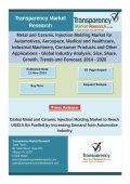 Metal and Ceramic Injection Molding Market for Automotives, Aerospace, Medical and Healthcare, Industrial Machinery, Consumer Products and Other Applications - Global Industry Analysis, Size, Share, Growth, Trends and Forecast, 2014 – 2020