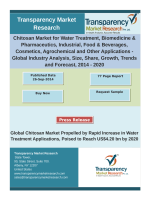 Chitosan Market for Water Treatment, Biomedicine & Pharmaceutics, Industrial, Food & Beverages, Cosmetics, Agrochemical and Other Applications - Global Industry Analysis, Size, Share, Growth, Trends and Forecast, 2014 – 2020