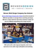 Benson Web Designers Company in San Antonio, TX