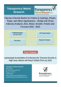 Titanium Dioxide Market for Paints & Coatings, Plastic, Paper, and Other Applications - Global and China Industry Analysis, Size, Share, Growth, Trends and Forecast 2015 – 2023