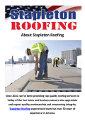 Stapleton Commercial Roofing Contractor in Phoenix, AZ