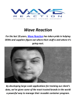 Wave Reaction : SKU Analysis