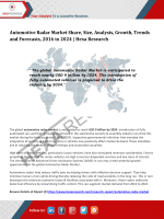 Automotive Radar Market Research Report, 2016 to 2024: Hexa Research