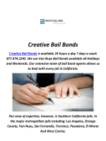 Bondsman in Van Nuys By Creative Bail Bonds