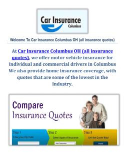 Car Insurance Columbus, OH (all insurance quotes)