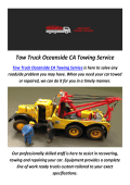Tow Truck Towing Service in Oceanside, CA