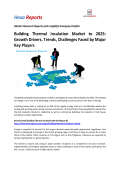 Building Thermal Insulation Market to 2025 Growth Drivers, Trends, Challenges Faced by Major Key Players