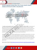 Aerosol Propellants Market  Trends, Growth, Industry Analysis and Forecast to 2024 | Hexa Research