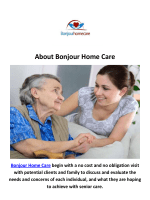 Bonjour Home Care in New Jersey