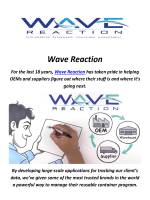 Wave Reaction : Reusable Container Management