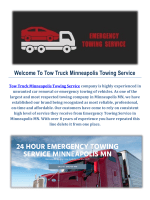Towing Service in Minneapolis, MN