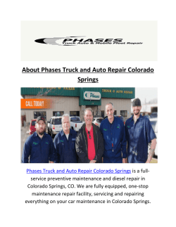 Phases Truck and Automotive Repair In Colorado Springs CO