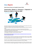 Construction Market in Germany is Expected to Grow at a CAGR of 2.81% by 2020