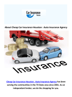 Cheap Car Insurance in Houston, TX
