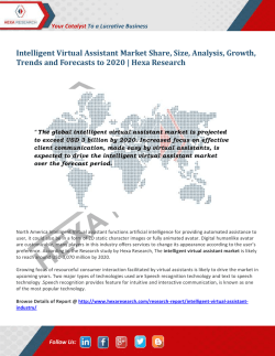 Intelligent Virtual Assistant Market Trends and Analysis, 2020