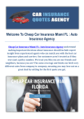 Cheap Car Insurance Agency in Miami FL