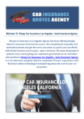 Auto Insurance Agency - Cheap Car Insurance in Los Angeles, CA