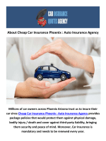 Cheap Car Insurance in Phoenix, AZ : Auto Insurance Agency
