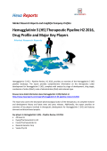 Hemagglutinin 5 (H5) Therapeutic Pipeline H2 2016, Drug Profile and Major Key Players