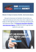 Cheap Car Auto Insurance Agency in Charlotte NC
