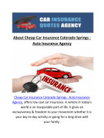 Cheap car Insurance In Colorado Springs CO