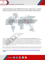 Polymethyl Methacrylate (PMMA) Market Trends and Analysis, 2020