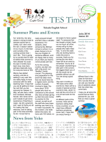 TES Newsletter Vol.23 July, 2014
