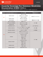 Coverity Coverage For Common Weakness Enumeration (CWE)